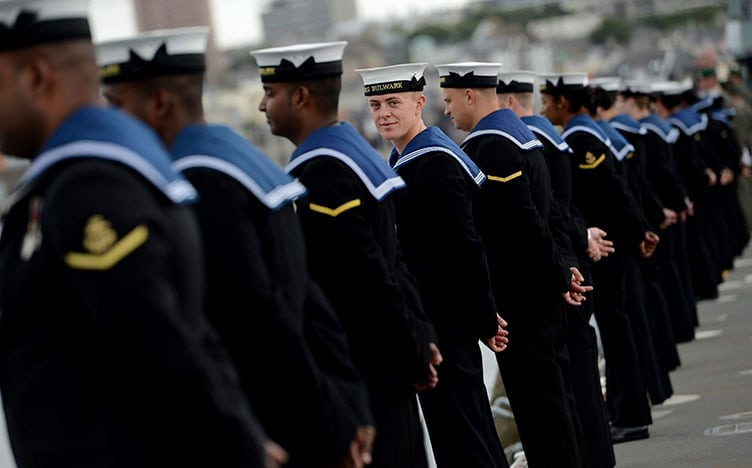 Navy procurement - Navy sailors stood in a row