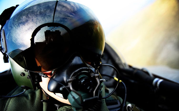 Supporting the RAF - pilot in cockpit