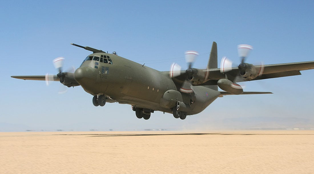c130j aircraft taking off