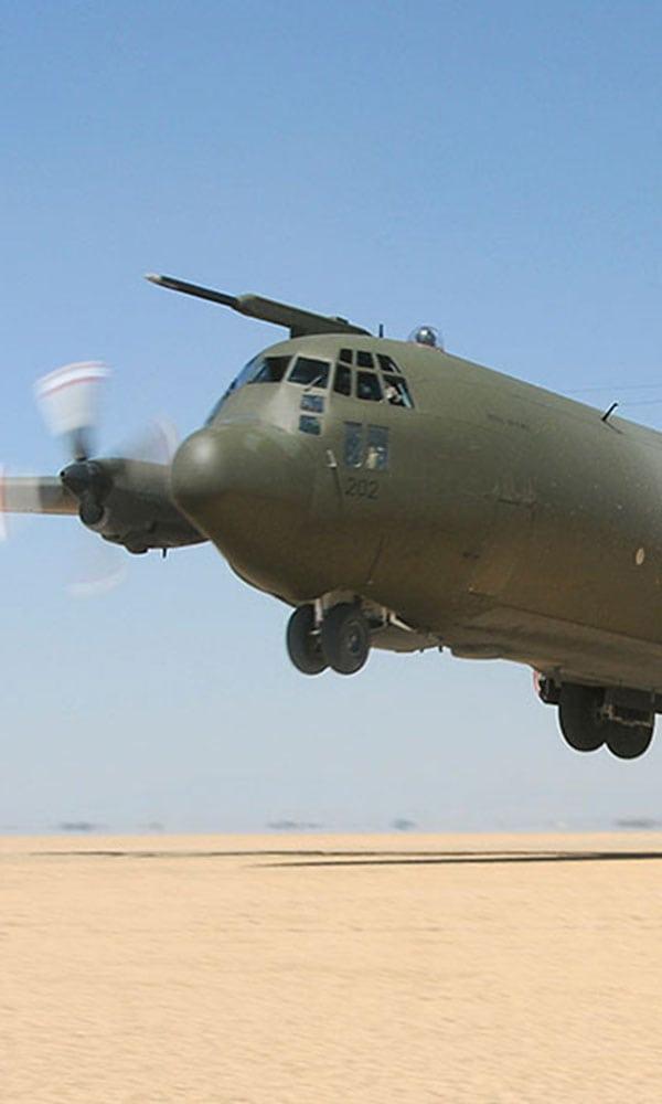C130J RAF aircraft taking off