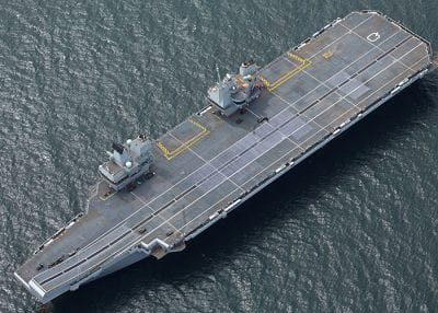 queen elizabeth class carrier birds eye view
