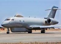 raf sentinel aircraft on runway