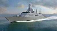 type 26 frigate in sea