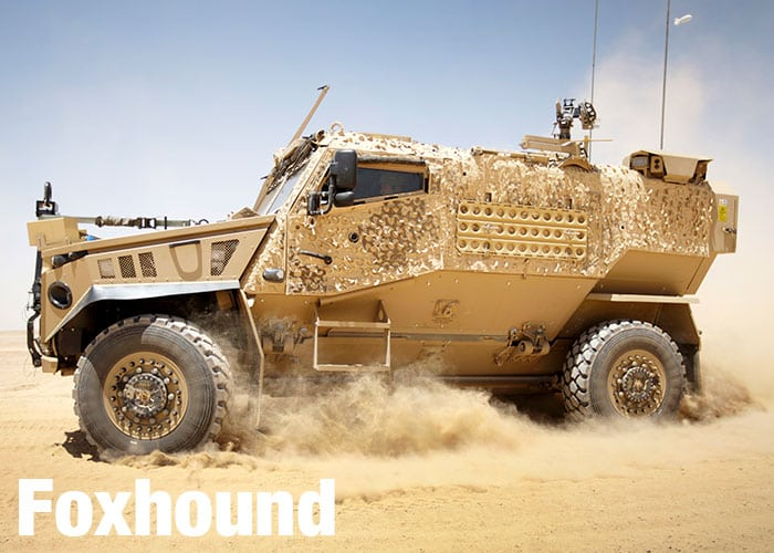 Foxhound vehicle in operation