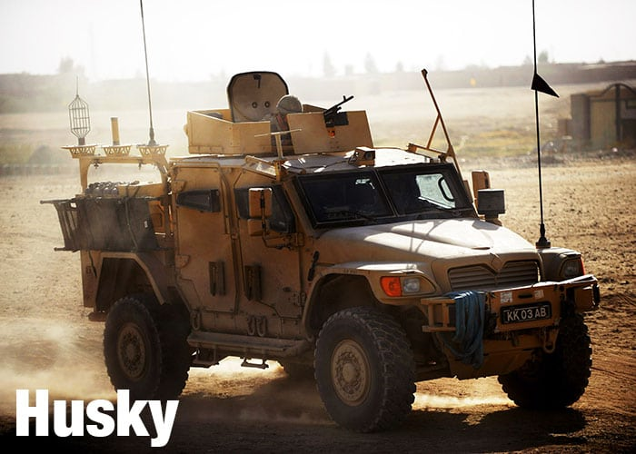 Husky vehicle in operation