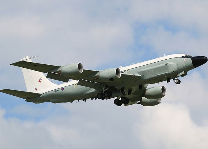 raf airseeker aircraft taking off