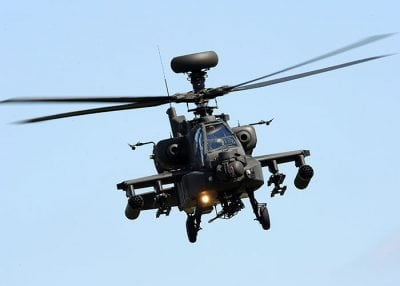 apache helicopter in flight