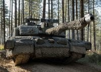 challenger 2 army tank in uk forest