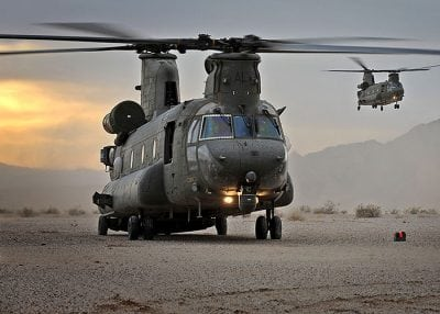 two raf chinooks