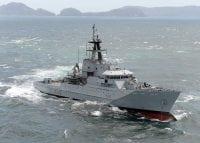 navy patrol vessel at sea