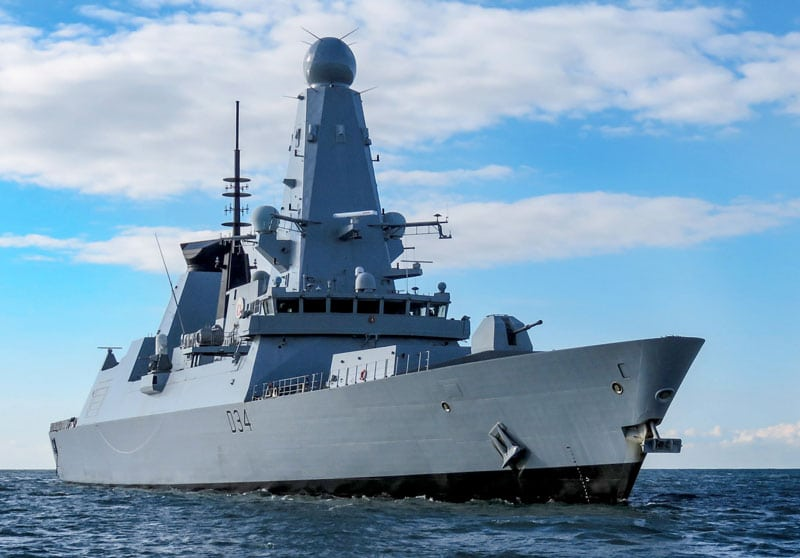 royal navy supply contracts - type 45 at sea