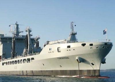 naval ship tidespring docked