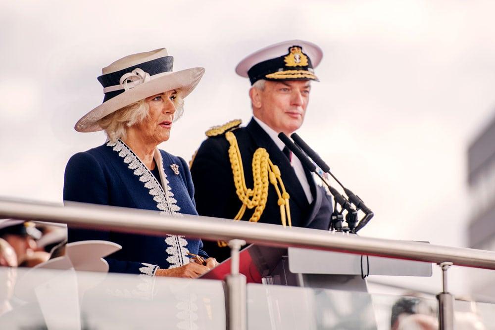 Camilla, Duchess of Cornwall, at prince of wales carrier naming