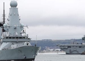 Type 45 Destroyer at sea to demonstrate ships fitted with new radar