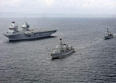Common Support Model - three navy ships at sail
