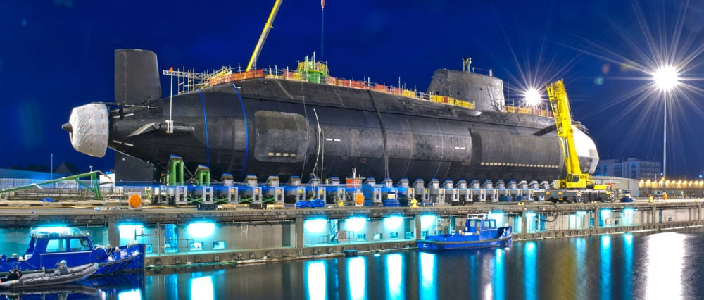 Nuclear submarine under construction