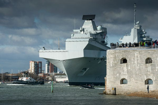 HMS Queen Elizabeth Royal Navy Portsmouth