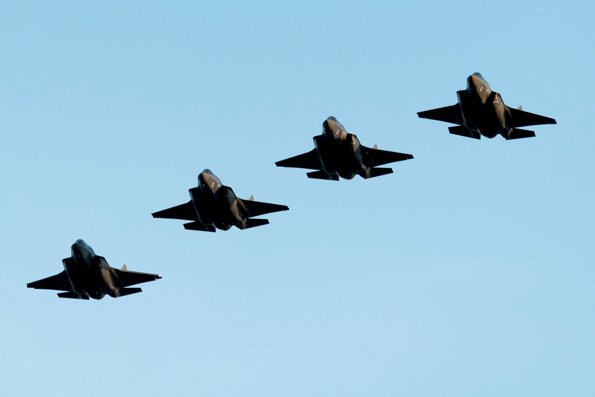 F-35s four in formation