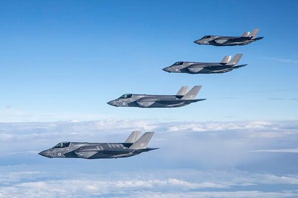 Royal Air Force and Royal Navy F-35B aircraft