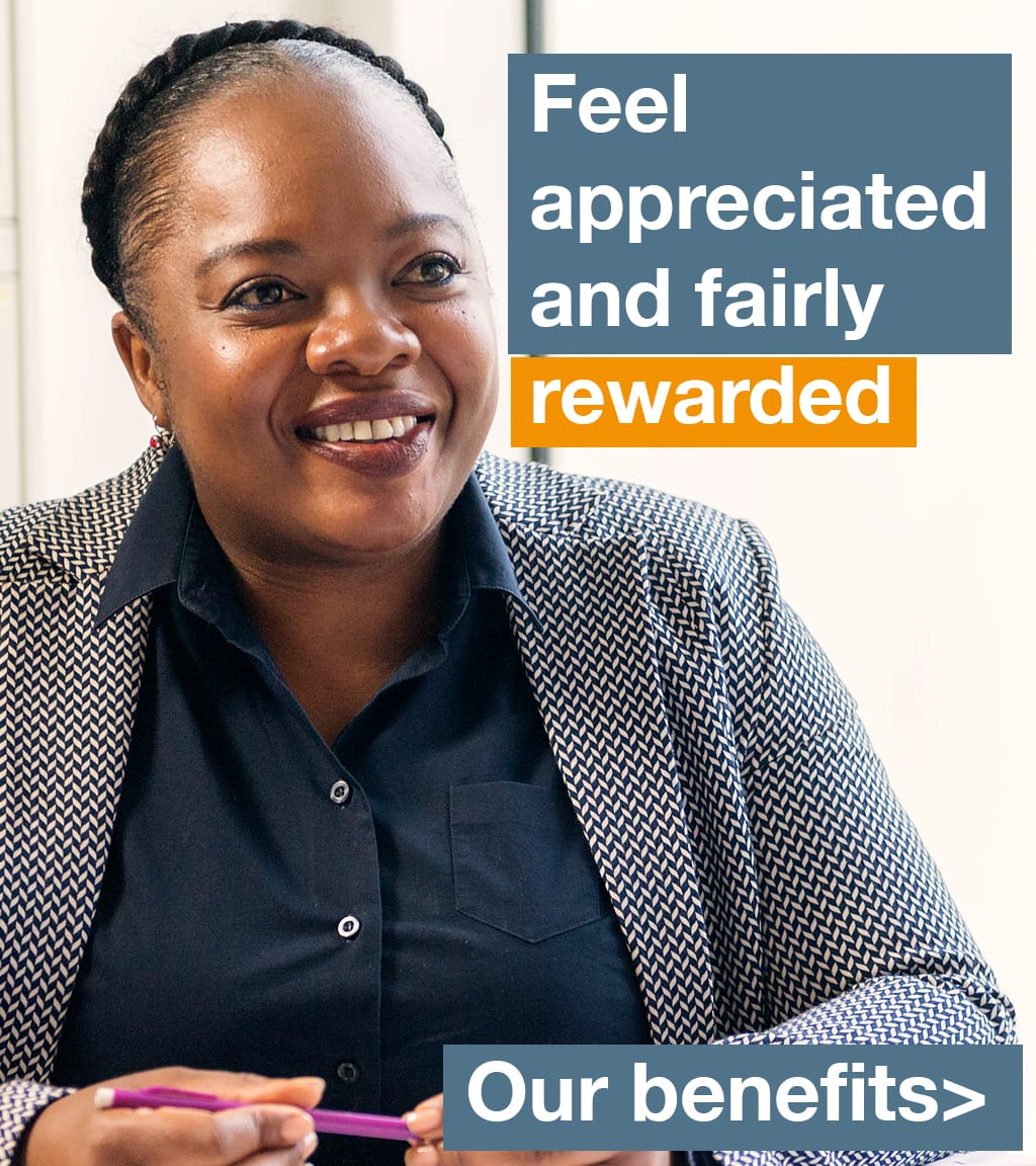 DE&S benefits - woman smiling
