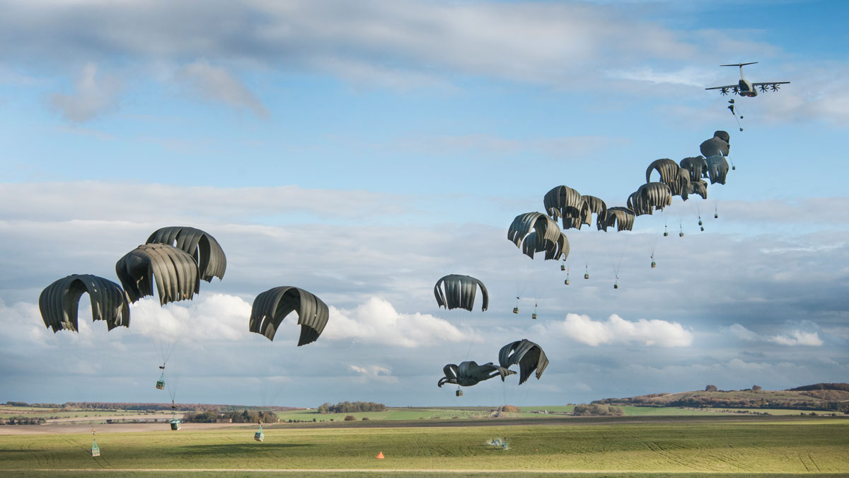 Chinook parachute drop