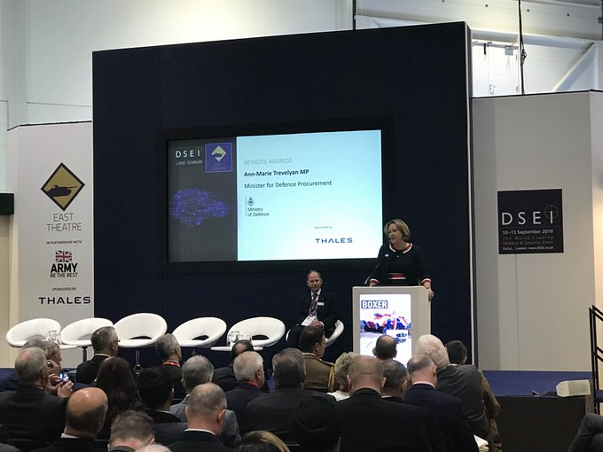 Anne-Marie-Trevelyan-DSEI-2019-Defence-Equipment-and-Support-DE&S