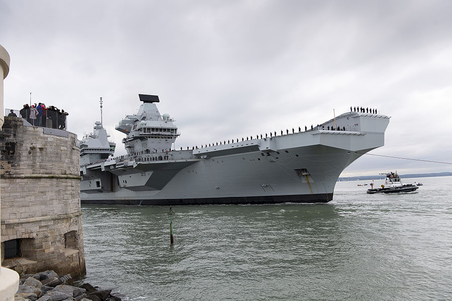 HMS-Prince-of-Wales-Royal-Navy-Defence-Equipment-and-Support-DE&S-Portsmouth