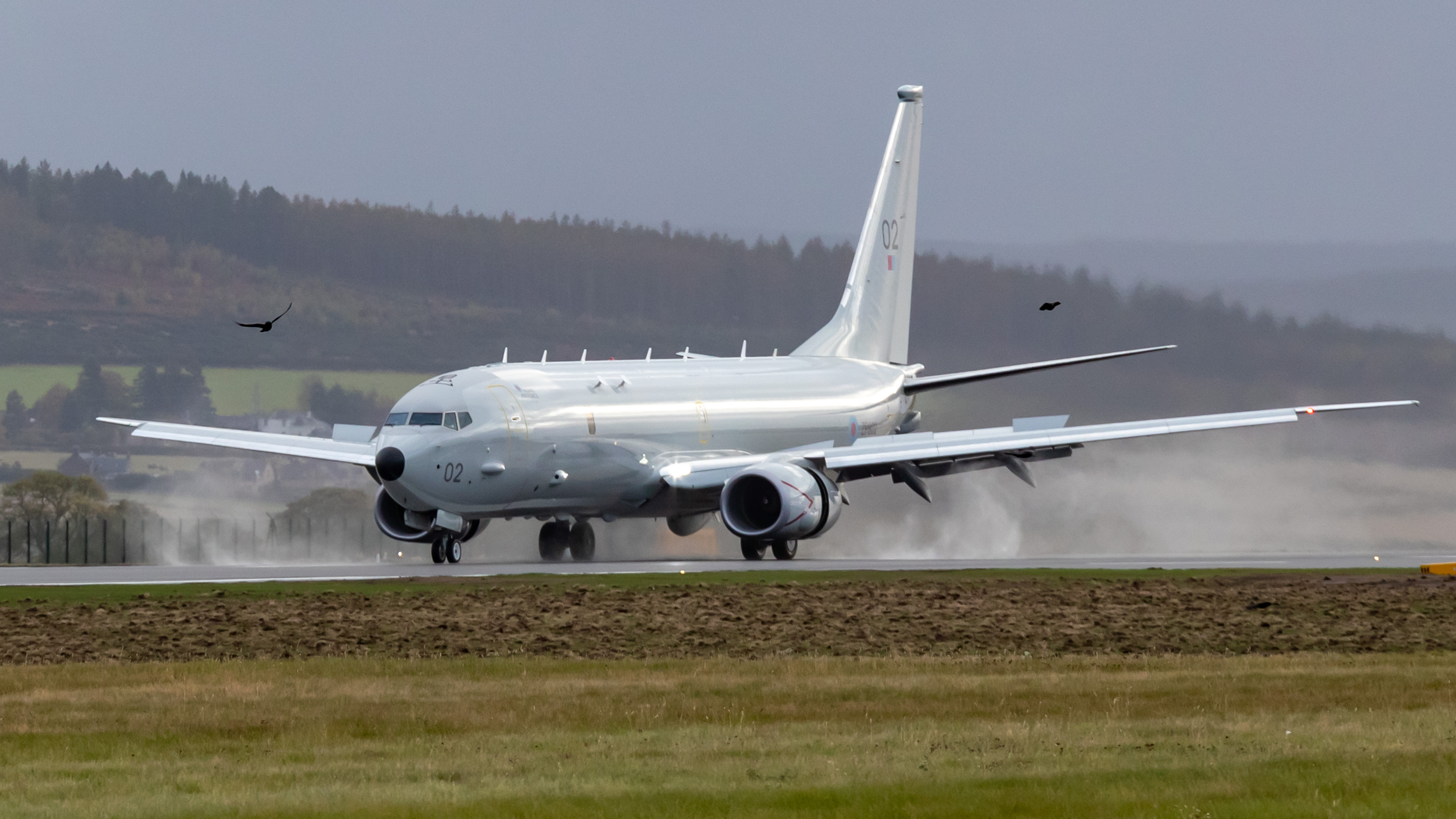 ZP802, the City of Elgin, touches down at RAF Lossiemouth for the first time
