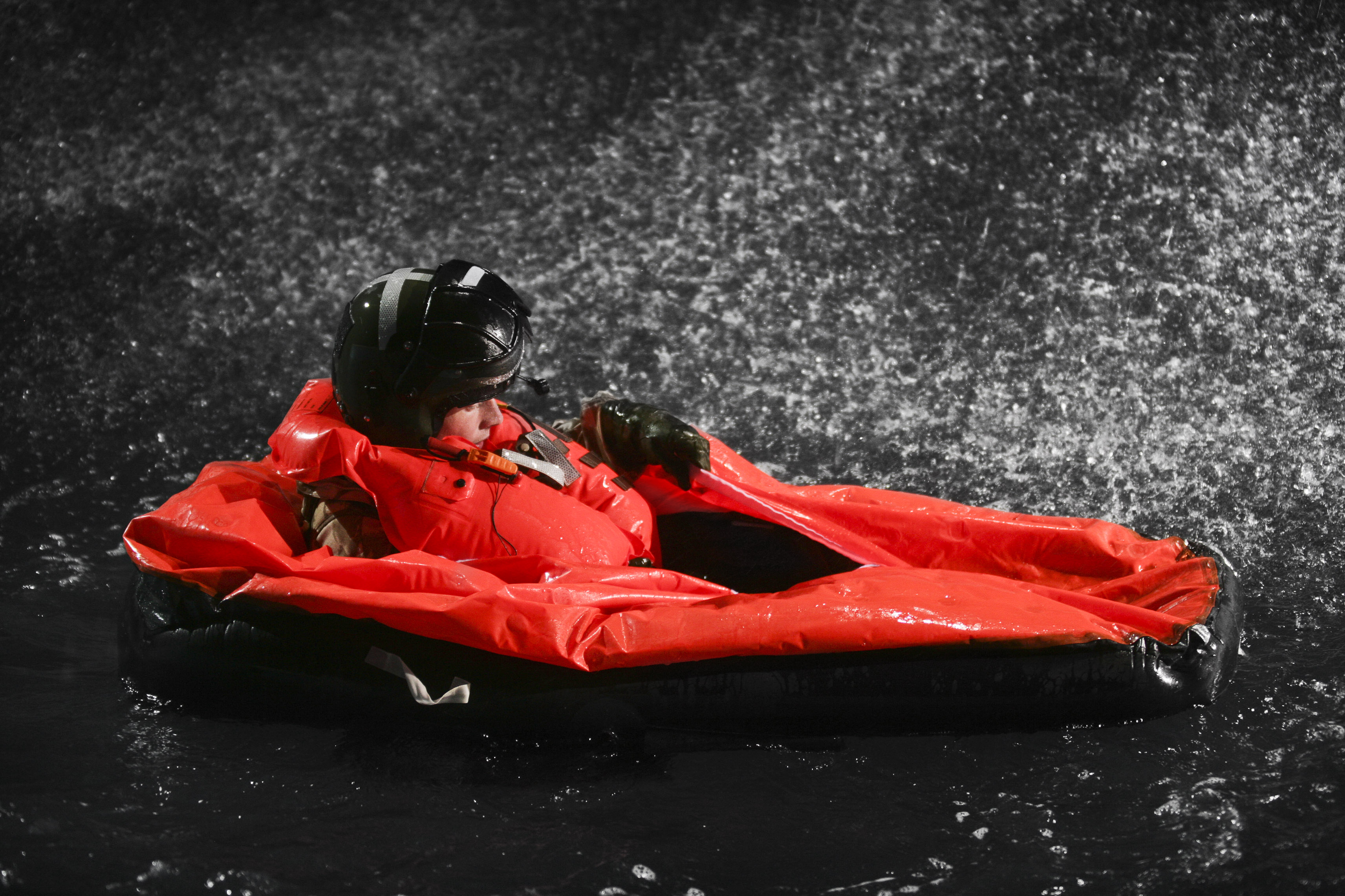 Image depicting the Survivtec life preserver and immersion protection garment